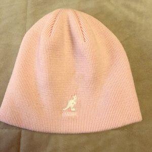 Kangol pink knit beanie